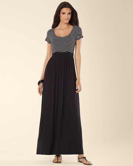 Tee Shirt Maxi Dress Generation Stripe Black
