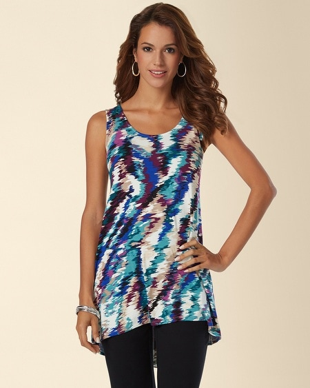 High-Low Sleeveless Tunic Top Waterfall Atlantis
