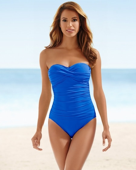 La Blanca Twisted Bandeau One Piece Swimsuit