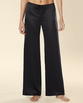 Signature Wide Leg Pajama Pant Black