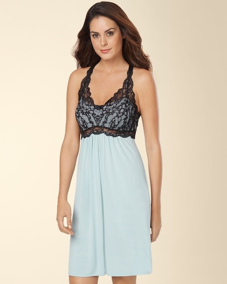 Eternal Lace Sleep Chemise Ether Blue