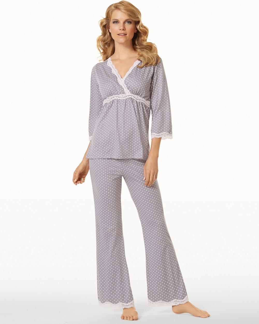 d55616c4d9b9b Belabumbum Nursing Pajama Set Grey Dot - Soma