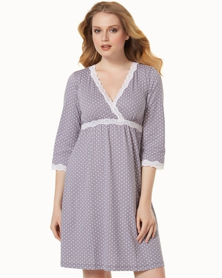 Belabumbum Nursing Sleepshirt Grey Dot