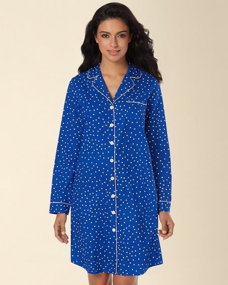 Woven Boyfriend Sleepshirt Connect The Dot Atlantis