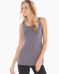 Pima Cotton Tunic Layering Tank Excalibur Grey