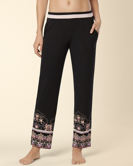 Ankle Pajama Pant Eastern Scroll Border