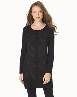 Live. Lounge. Wear. Divine Terry Raglan Sleeve Tunic Perfection Black