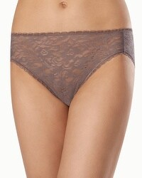 Enticing Allover Lace High Leg Brief
