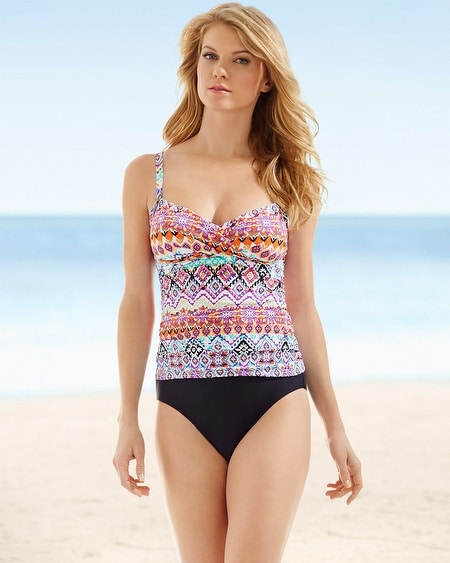 Crossover Camisole Swim Tankini Top