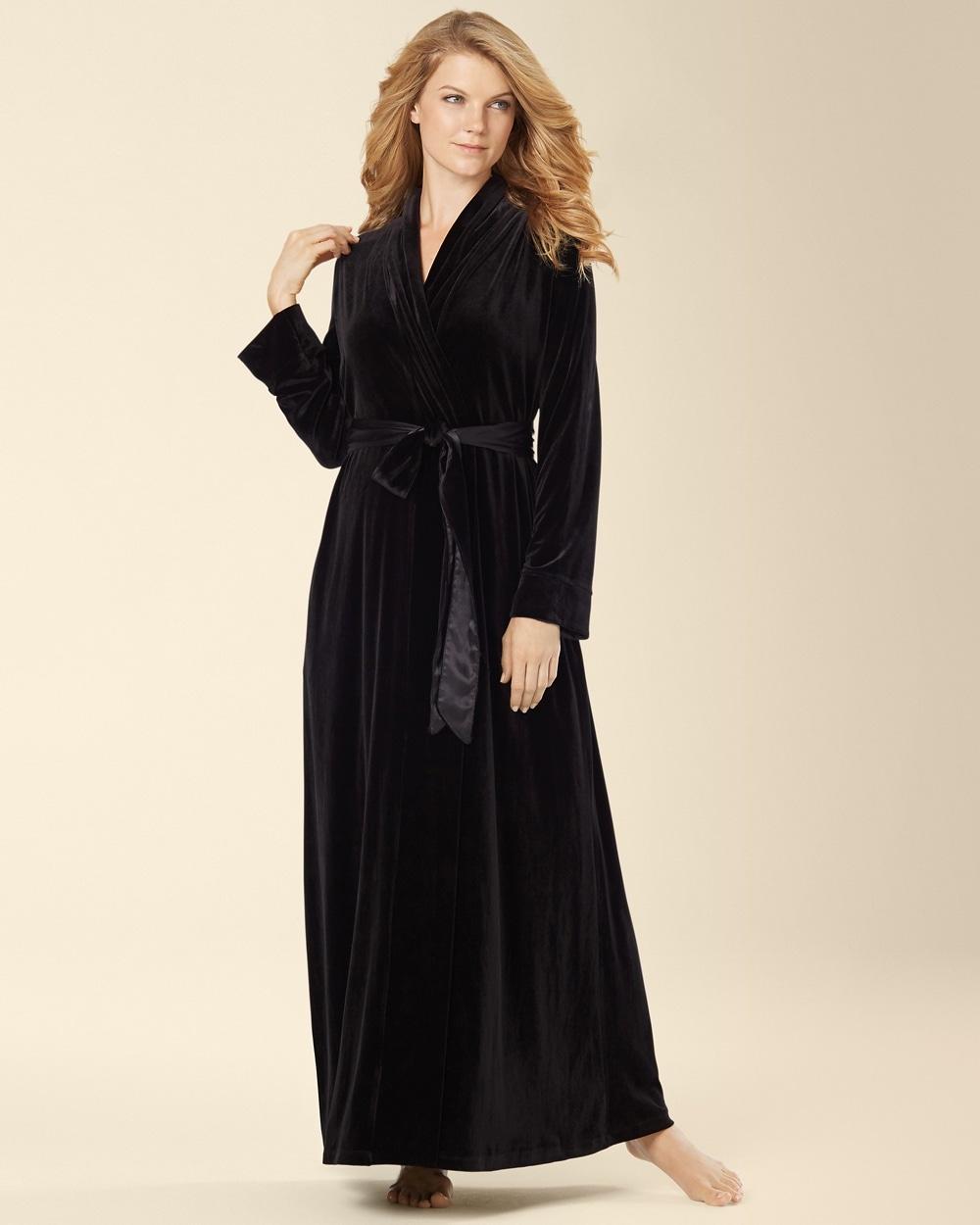 570119630. Video. Zoom. Jonquil Black Velvet Long Robe d25c4e527