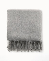 Arlotta Cashmere Throw Blanket Heather Grey