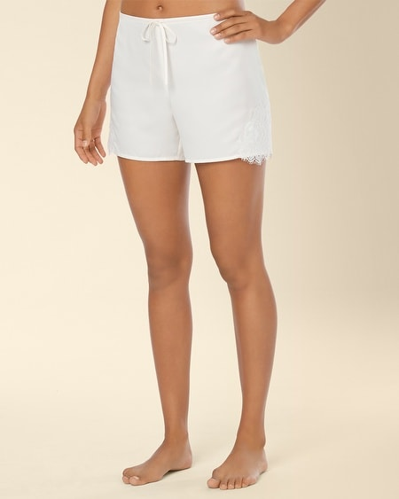 Signature Floral Lace Sleep Short Ivory