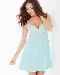Limited Edition Intrigue Babydoll Eggshell Blue/Light Nude