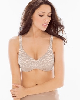 Travelers 1 inch Minimizing Emma Animal Jacquard Bra