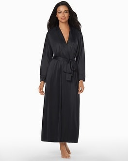 Natori Long Slinky Robe Black