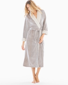 Natori Sherpa Plush Long Robe Cashmere