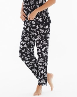 Embraceable Cool Nights Ankle Pajama Pant Breathless Black