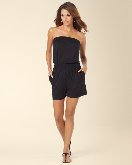 Strapless Beach Cover up Strapless Romper Cover up