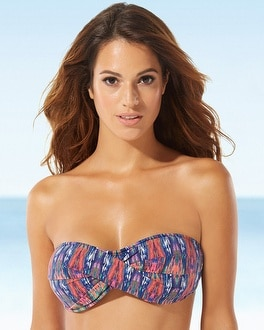 Tommy Bahama Twisted Bandeau Swim Bikini Top
