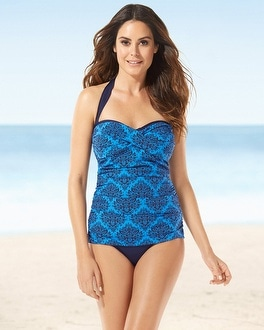 Tommy Bahama Twist Front Swim Tankini Top