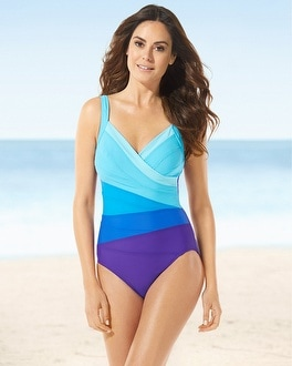 Miraclesuit Surplice One Piece Swimsuit
