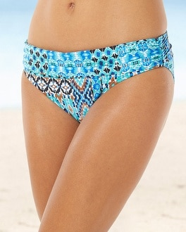 La Blanca Shirred Swim Hipster
