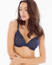 Vanishing Back Full Coverage Paisley Lace Bra