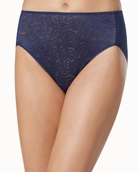 Vanishing Tummy Paisley Lace High Leg Brief
