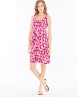 Sleeveless A-Line Short Dress Infused Rose Violet