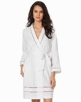 Oscar de la Renta Luxe Cotton Short Spa Robe