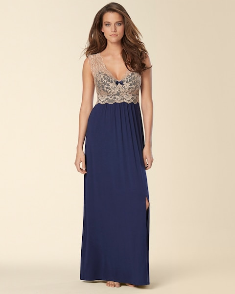 Classic Lace Long Nightgown - Soma
