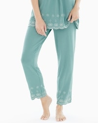 Cool Nights Eyelet Ankle Pajama Pant Jaded