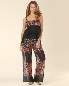 Muse Spaghetti Strap Jumpsuit Black Multi