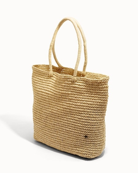 Flora Bella York Large Crochet Tote Wheat/Gold