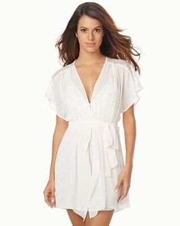 Jonquil Tessa Sheer Lace Short Wrap Robe
