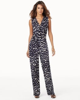 Leota Sleeveless Surplice Jumpsuit