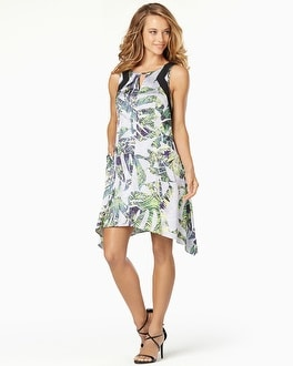 Muse Sleeveless Printed Trapeze Dress