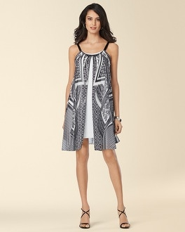 Muse Sleeveless Fly Away Printed Dress