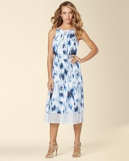Ivy and Blu Sleeveless Midi Printed Dress