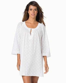 Oscar de la Renta Luxe Spa Cotton Long Sleeve Sleepshirt