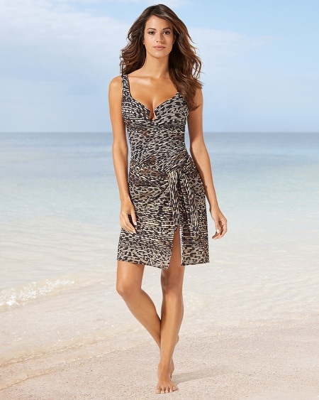 Side Tie Sarong Swim Cover Up