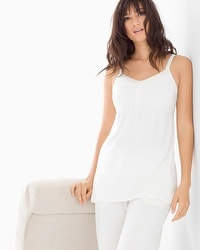Cool Nights Satin Trimmed Pajama Cami Ivory