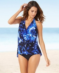 Magicsuit Sophie Blue Halter Tankini Swim Top
