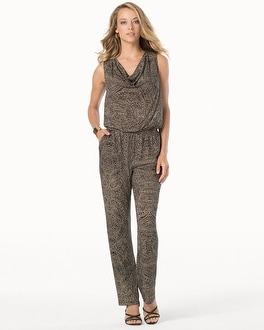 Cowl Neck Sleeveless Jumpsuit