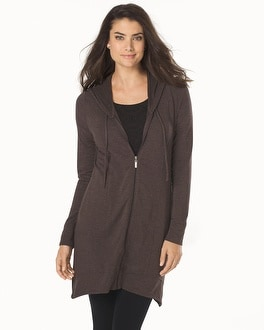 Live.Lounge.Wear. Divine Terry Tunic Length Scarf Hem Jacket