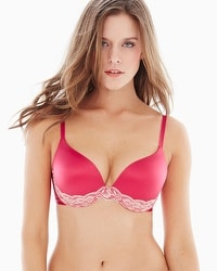 Limited Edition Enhancing Shape Push Up Lace Trim Bra