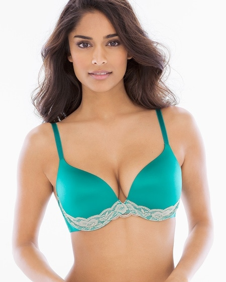 Enhancing Shape Push Up Lace Trim Bra