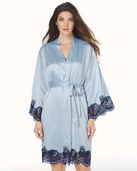 Short Robe Celestial Blue With Navy