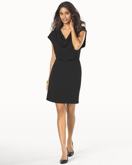 Muse Cowl Neck Blouson Dress