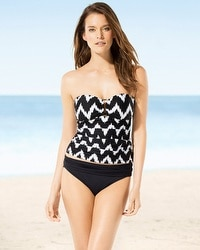 La Blanca Night Waves Bandeau Tankini Top